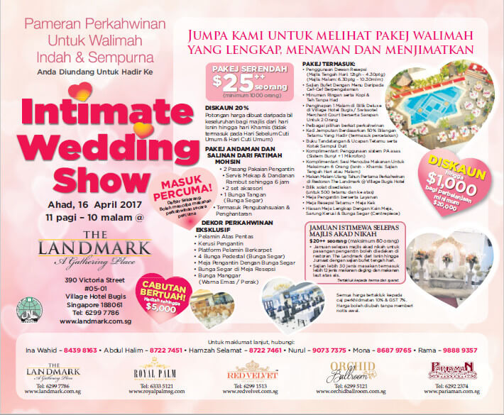 Intimate Wedding Show 16 April 2017