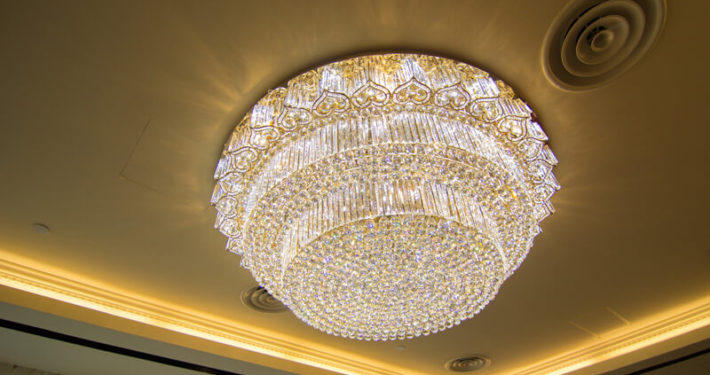 Royal Palm Corporate Event Chandelier