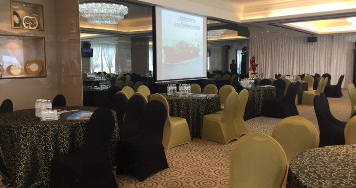 Royal Palm Corporate Event Projector 1