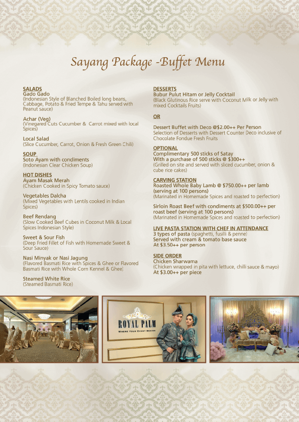 Sayang Wedding Package